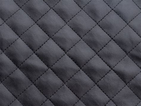 Leather Quilted mjtrends black quilted faux leather fabric