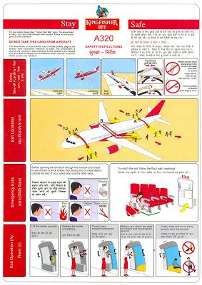aircraft safety card template world safety cards kingfisher airlines airbus a320