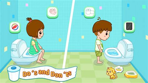 girls bathroom game toilet training baby s potty android apps on google play