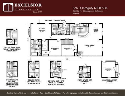 schult timberland 6028 508 excelsior homes west inc schult integrity 508 modular manufactured excelsior