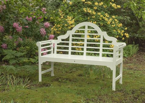 white lutyens garden bench buy lutyens bench white delivery by crocus