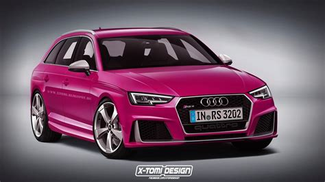 pink audi a4 2017 audi rs4 avant rendered but what will power it