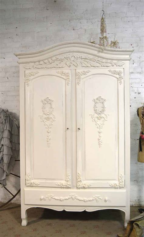 Shabby Armoire by Armoire Painted Cottage Chic Shabby