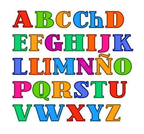 imagenes de letras variadas l alphabet espagnol haut de casse a color 233 des lettres