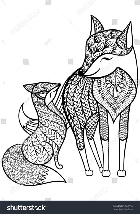 how to do foxtrot on doodle fit fox with child pattern for coloring