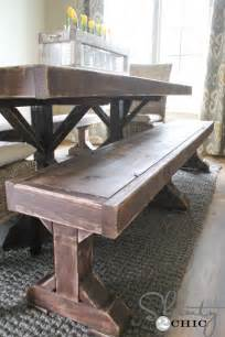 Dining Room Table Bench Plans White Build A Farmhouse Bed With Arch Free And