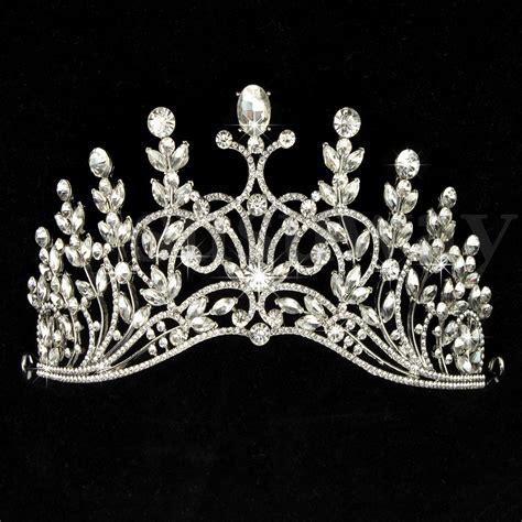 Princess Wedding Crown princess bridal wedding prom headband rhinestone pearl veil tiara crown ebay