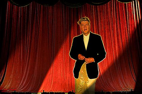 David Lynch Contemplating Red Curtains By Paulbaack On