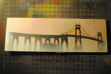 spray paint portland or st johns bridge portland or spraypaint by joshfryguy