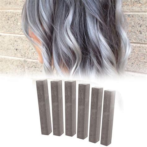 hair color shoo for gray hair 3 cement grey hair chalk 1double