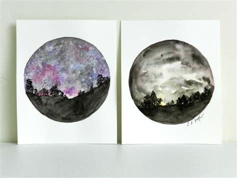 watercolor tutorial night sky how to paint a night sky in watercolor two tutorials