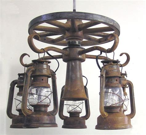 southwestern ceiling fan light kits wooden wagon wheel ceiling fan light kit with 5 lanterns