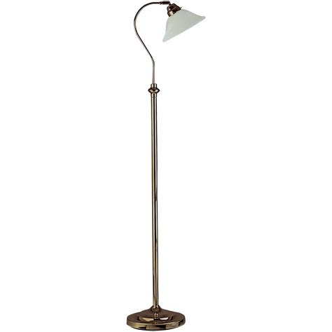 Floor Lamos by Traditional Floor L In Antique Brass With Adjustable Shade