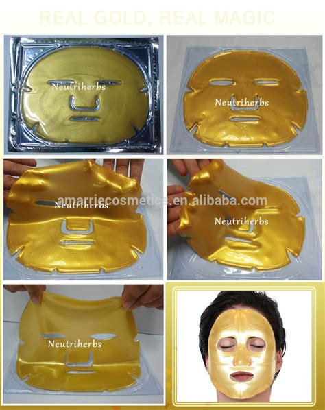 Masker Shiseido Gold Whitening 24k Mask Mask Gold Cair Liqui Murah collagen gold mask anti aging moisturizing reduce wrinkles gold sheet