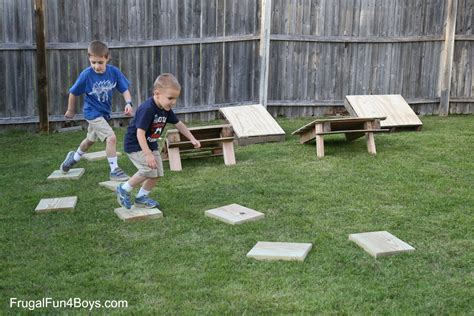 backyard obstacle course for kids american ninja warrior backyard obstacle course frugal