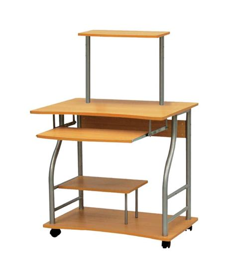 computer table with wheels wooden computer table with wheels buy wooden computer
