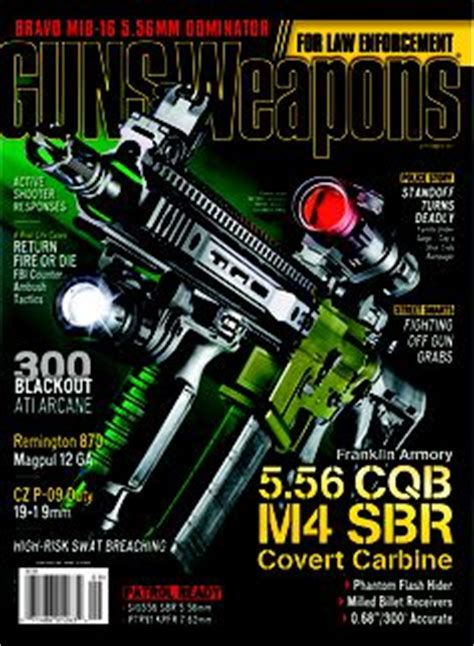 6 Sneak Peeks Of This Years September Issues by Guns Weapons For Enforcement February March 2015