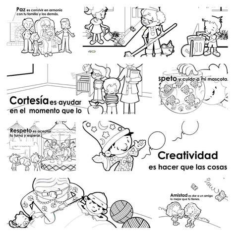 imagenes para colorear sobre los valores dibujos colorear valores ideas creativas sobre colorear