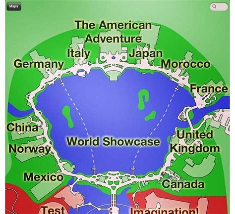 world showcase map walt disney s world