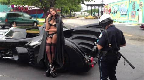 Gets On by Bat Mobile Gets Pulled Arrested