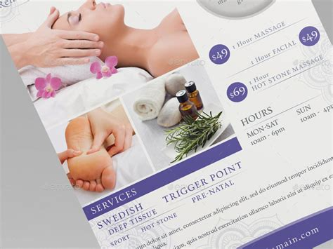 templates for massage flyers massage ad flyer template by wutip2 graphicriver