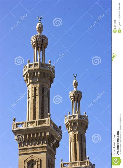 said egitto due minareti della moschea said egitto fotografie