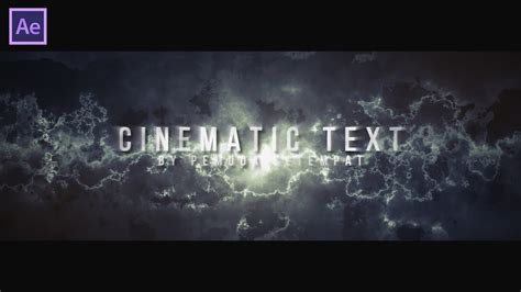 tutorial after effect cinematic after effect tutorial cara membuat cinematic text