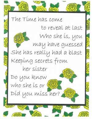 secret pal poems secret pal revealing card quotes quotesgram