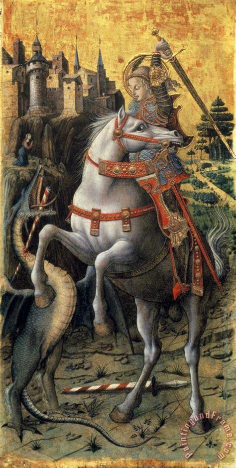 carlo crivelli saint george slaying  dragon painting