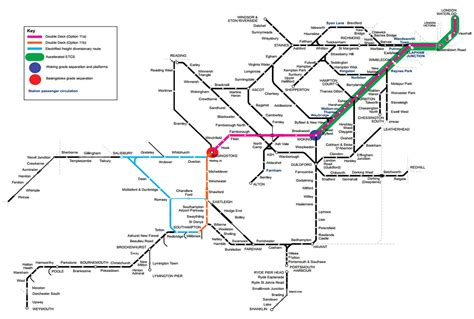 map uk rail lines deck trains proposed for waterloo station lines
