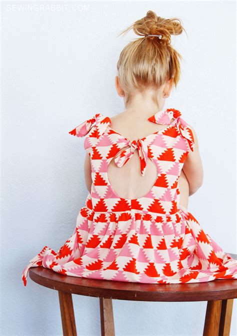 girls knot dress sewing pattern and a line top shirt knot dress free pattern the sewing rabbit