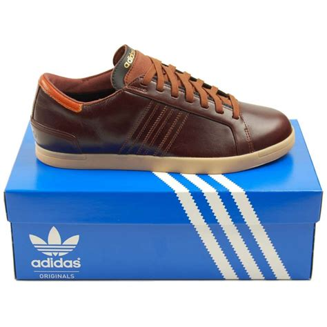 adidas originals court lounge brown mens shoes from attic clothing uk