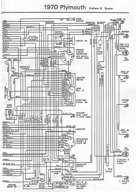 70 and 71 Valiant Duster Wiring Diagram   For A Bodies