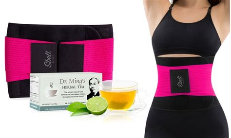Green Detox Groupon by Pink Sport Waist Trainer With Slimming Green Detox Tea