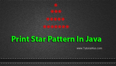 pattern triangle in java programming tutorials print star pattern in java print