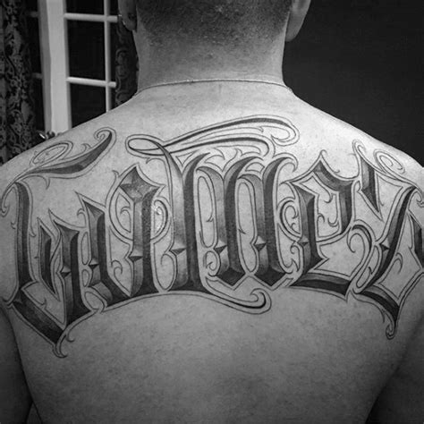 last name on back tattoo designs 50 tattoos for retro font ink design ideas