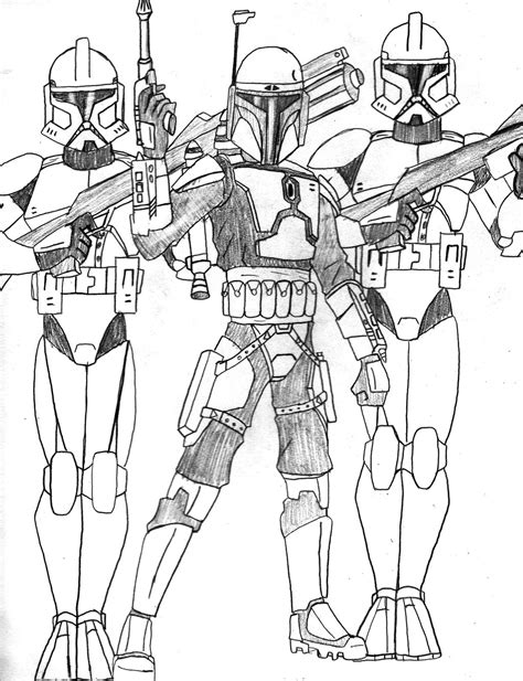 Star Wars Jango Fett Coloring Pages Coloring Pages Jango Fett Coloring Page