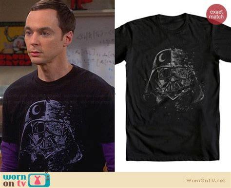 Sheldon Cooper Wardrobe by Wornontv Sheldon S Black Darth Vader Shirt On The Big