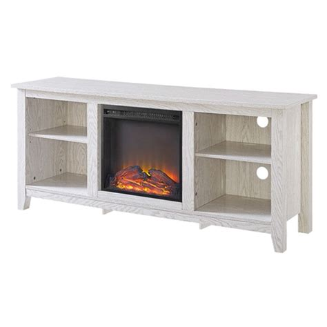 whitewash tv stand whitewash 58 inch tv stand electric fireplace space heater