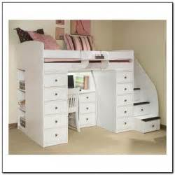 loft bed with desk and stairs beds home design