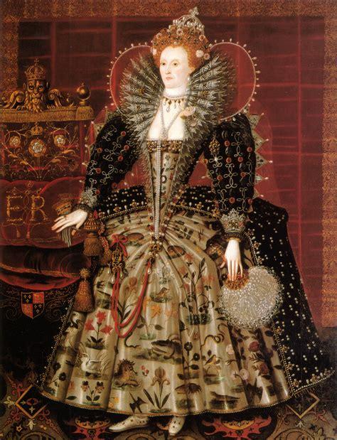 Fashion Elisabet ca 1599 elizabeth i of by nicholas hilliard studio hardwick chesterfield