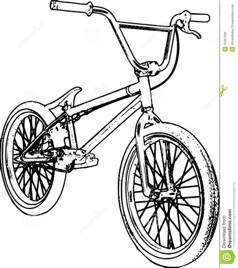 retro bmx sketch stock illustration image of symbol
