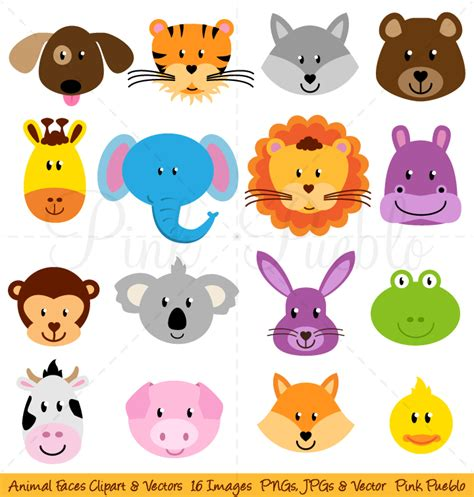 animal clipart animal faces clipart and vectors illustrations on