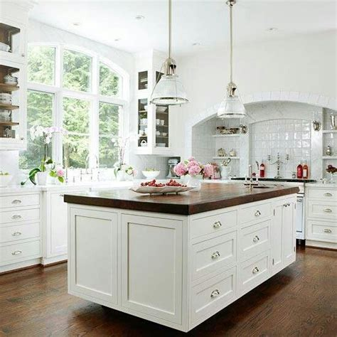 white kitchens with butcher block white kitchen butcher block island home projects