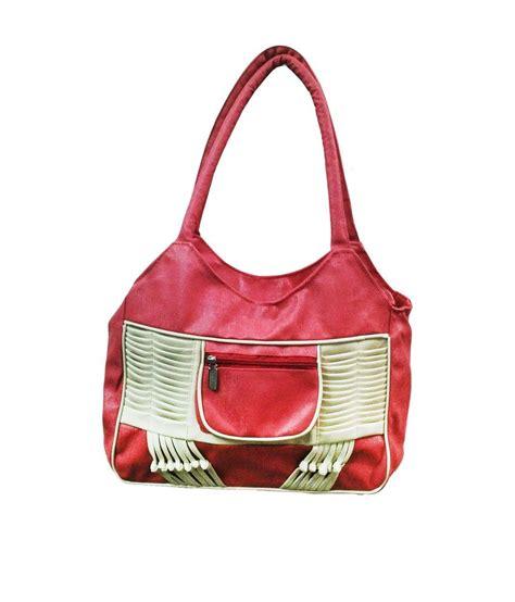 buy bags and bucks pink p u shoulder bag at best prices