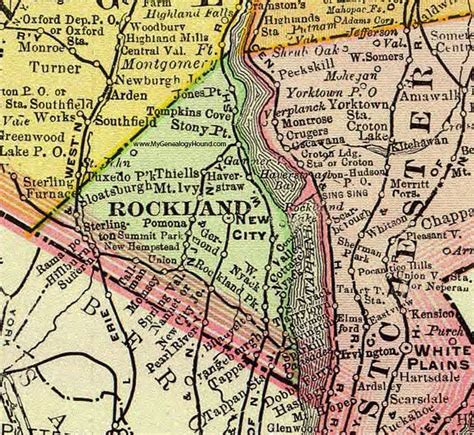 rockland county map ny rockland county new york 1897 map by rand mcnally new