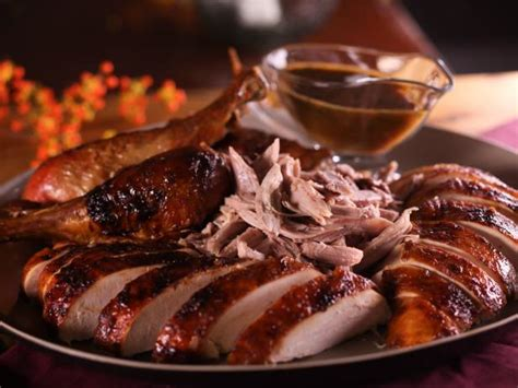 Roast Turkey With Mustard Maple Glaze Recipe Bobby Flay