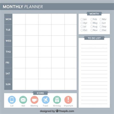 daily planner template ai planificador mensual sobrio descargar vectores premium