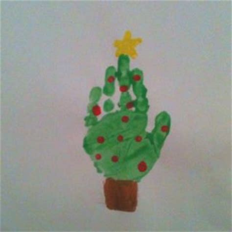 christmas tree crafts for preschool using handprint ideas for and ideas on