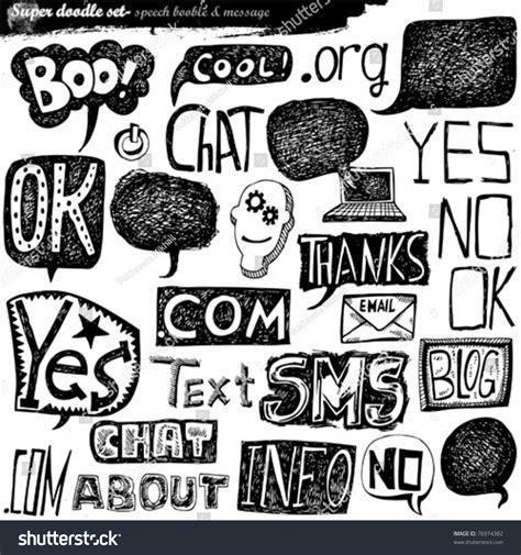 doodle speech free vector doodle speech element stock vector illustration 76974382